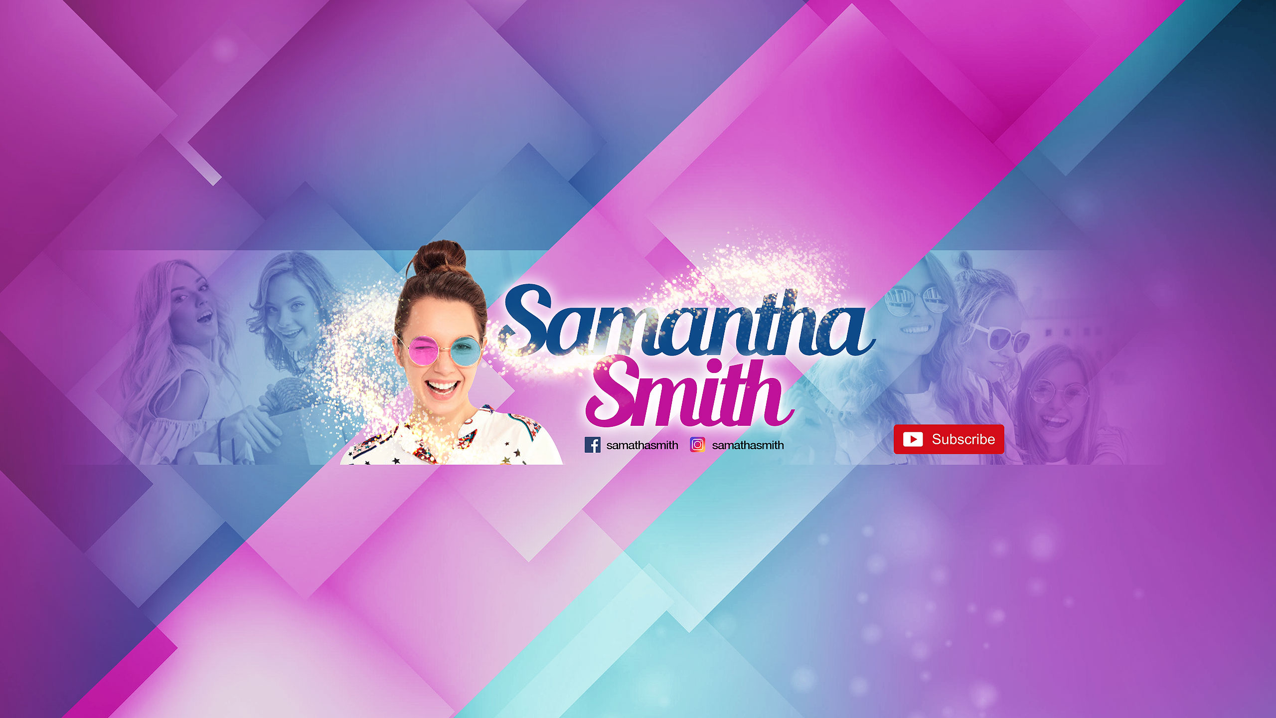 youtube header for celebrities
