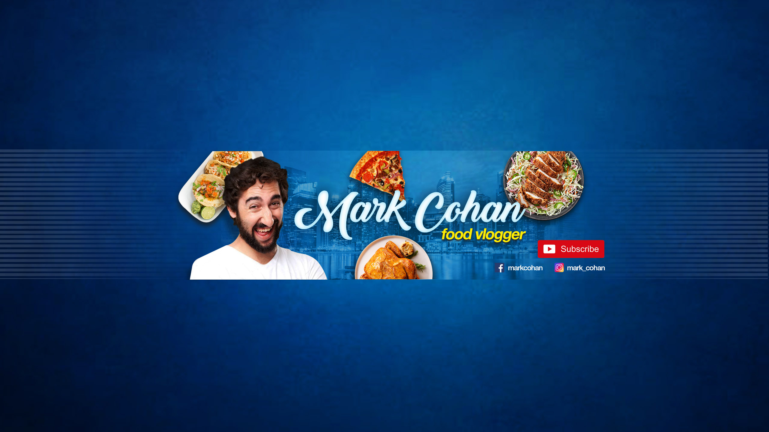 youtube banner for food vlogger
