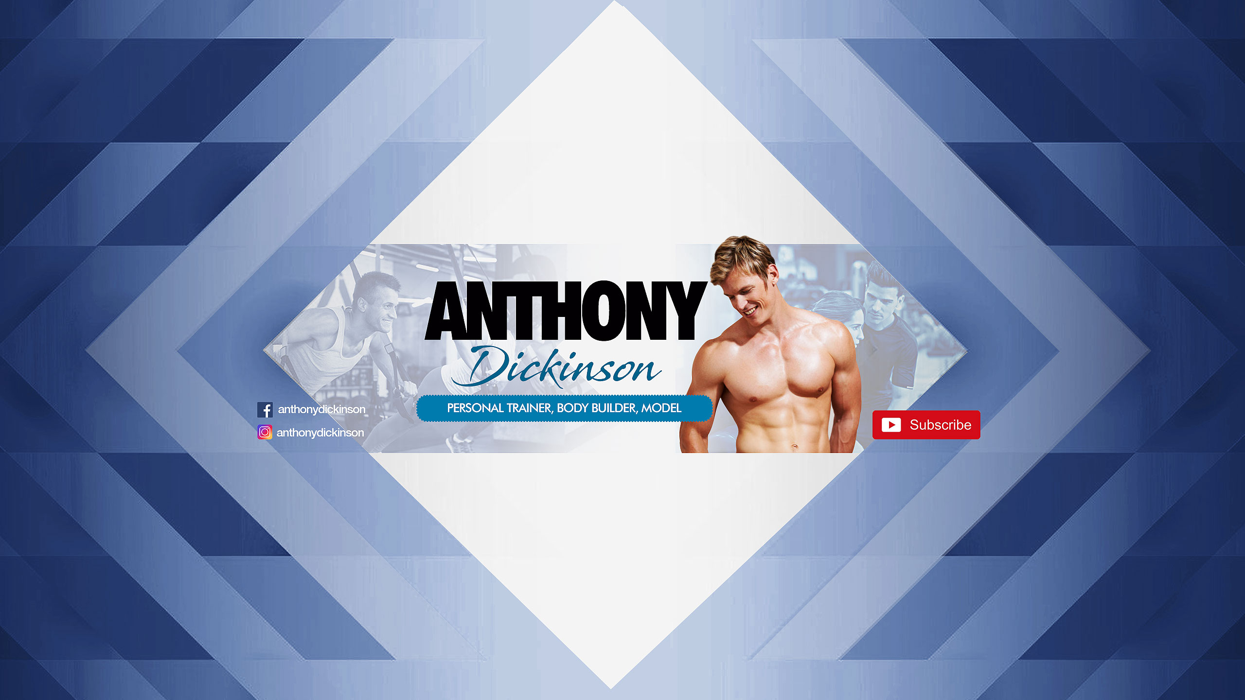 youtube channel art for personal trainer